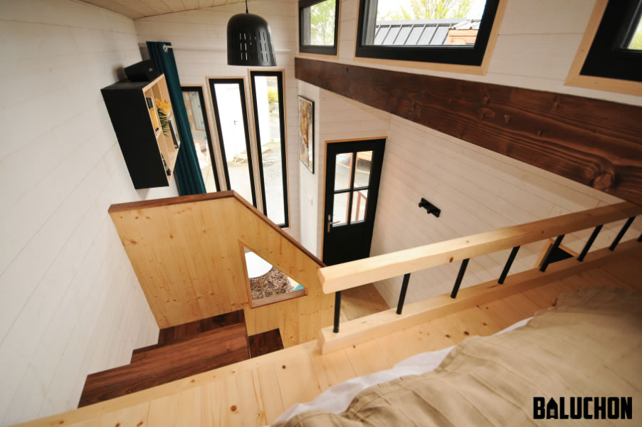 Escapade Tiny House by Baluchon - view from loft
