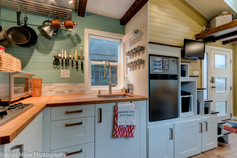 Tiny House Kitchen, Stairs