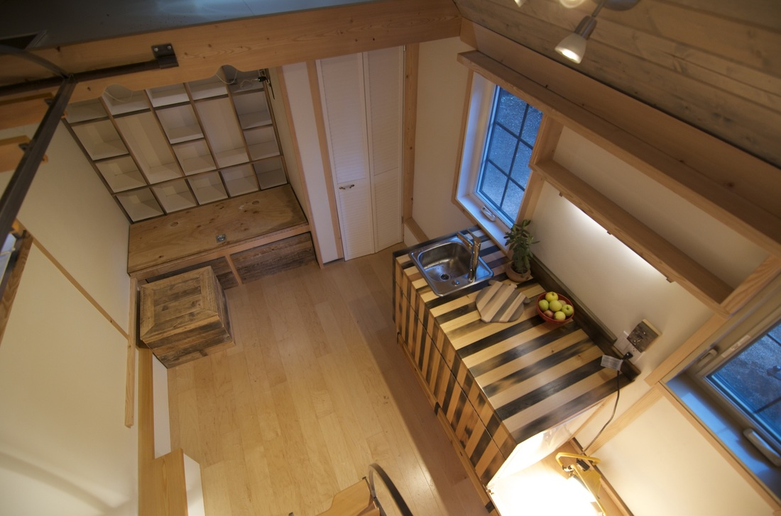 Acorn Interior from Loft - Nelson Tiny Houses
