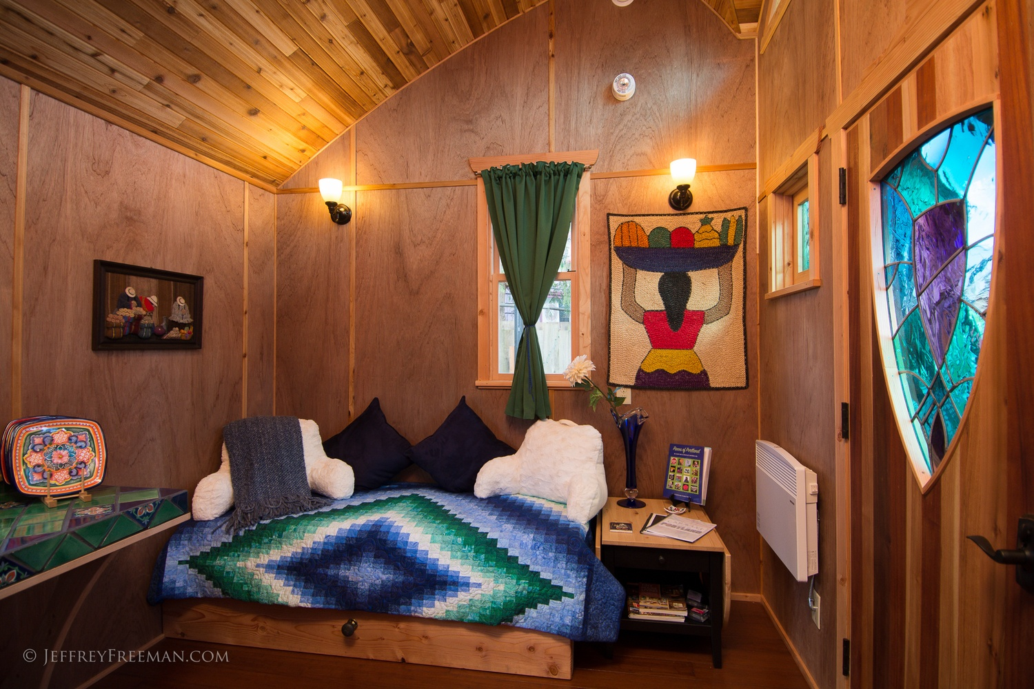 Cozy Interior - Pacifica by Zyl Vardos at the Tiny House Hotel